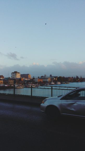 La mayor parte del tiempo, paso a pie por el puente. La vista siempre acompaña.